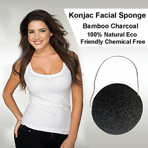 Konjac Facial Sponge Activated Charcoal