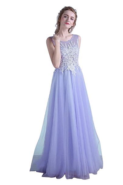 besswedding largo luz morado noche de sirena vestidos de novia (Plus tamaño para niñas CS