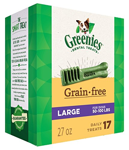 (Greenies 27 OZ, Grain Free Dental Chews Large Size for Dogs)