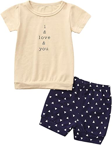 WARMSHOP No Shipping Baby Boy Girl Casual Home Clothes Stars Print Cotton Tops Blouse+Stripe Pants 2-Piece Pajama Set