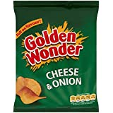 Golden Wonder Cheese And Onion Crisps Full Box of 32 x 32.5g Bags
