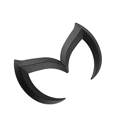 SuPoo For Mazda Black Sporty Metal Evil 'M' Rear Trunk Badge Decal Emblem Matte 3 5 6: Automotive