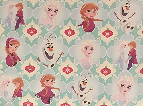 Disney Frozen Wrapping Paper - Frozen Birthday Gift Wrap - Frozen Gift Wrap - Frozen Christmas Wrapping Paper,1 Roll - 40-65sf (Blue - (Sf Costume Store)