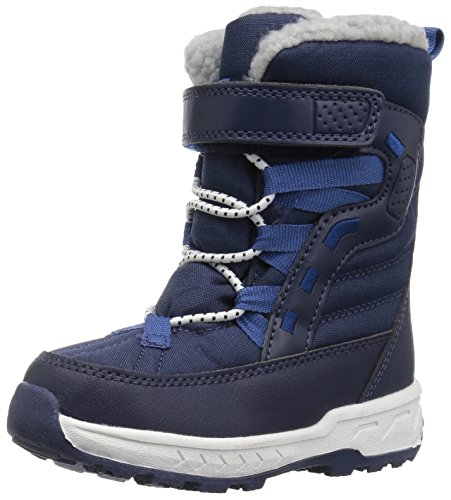 carter's Boys' Basel Cold Weather Snow Boot, Navy, 8 M US Toddler