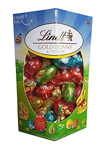 Lindt Gold Bunny & Friends 14oz Fine Belgian Chocolate Easter Bunnies and Egg Selection Includes Lindor Eggs