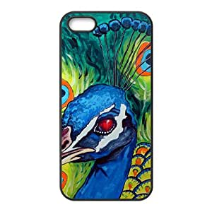 Beautiful Proud peacock Phone Case for iPhone 5S(TPU)