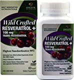 Genceutic Naturals Wild Crafted Rseveratrol+ -- 100 mg - 60 Vcaps® - 3PC