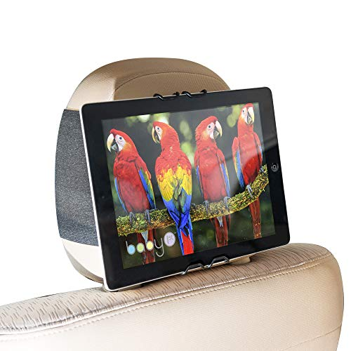 Drive Buddy TM Universal Car Headrest Mount Tablet & Smartphone Holder- iPad Mini, iPhone, Kindle Fire, Samsung Galaxy, Nexus and More.Perfect