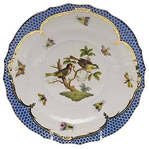 Herend Rothschild pájaro azul platos de ensalada, diseño de # 11
