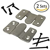 Interlocking Z Clips for Flush Mounting Pictures, Head Boards, Wall Panels - 2 Sets