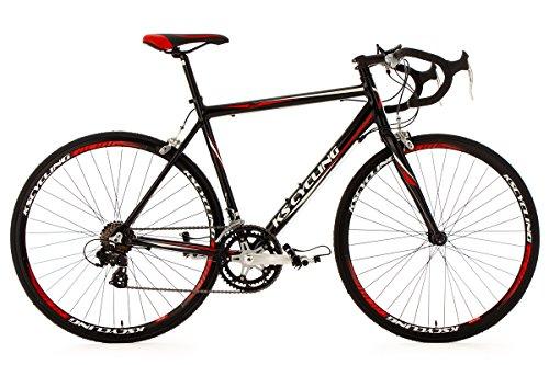 KS Cycling Fahrrad Rennrad Alu Euphoria RH 62 cm, Schwarz, 28, 209B