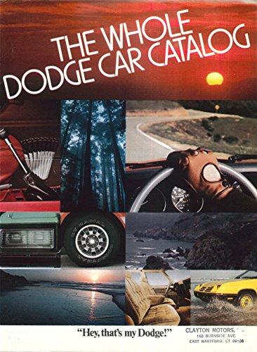 1979 Dodge full-line brochure Magnum XE Aspen Omni ++