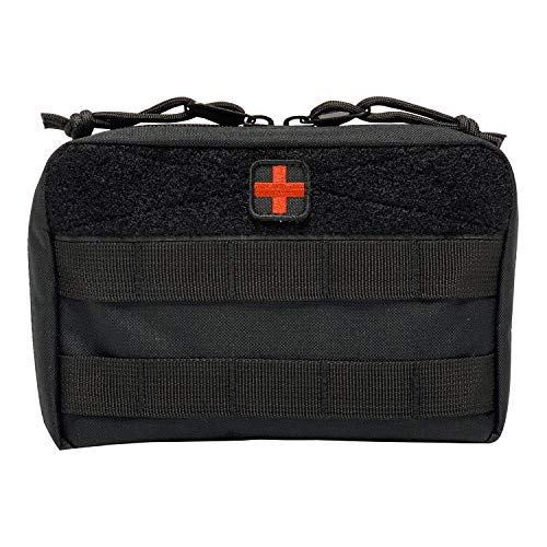 (HSD Tactical Family First Aid Kit Admin EMT Medical IFAK Utility MOLLE Pouch (Black))