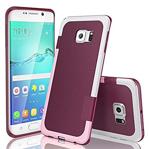 Galaxy S6 Edge Case, TILL(TM) Ultra Slim 3 Color Hybrid Impact Anti-slip Shockproof Soft TPU Hard PC Bumper Extra Front Raised Lip Case Cover for Samsung Galaxy S6 Edge S VI Edge G925 - Lip Cell Phone Case