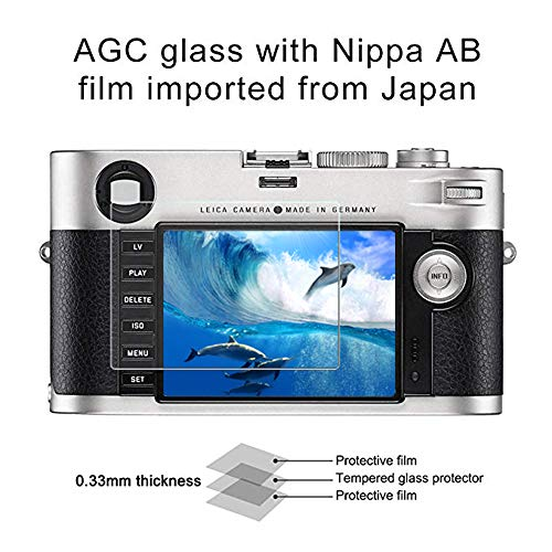High Definition Camra Glass Screen Protector for Leica M, Pavoscreen Anti Scratch + Fingerprint Proof + Ultra Clear, 9H Tempered Glass Shield for Leica M240