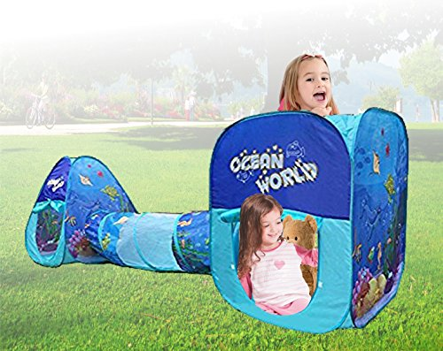 (Kids Pop up Ocean Theme Play Tents and Tunnel)
