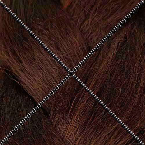 Doctored Locks Synthetic KK Ultra Jumbo Braid Artist Fiber for Braids, Twists and Dreadlock Hair Extensions - Chocolate Cherry