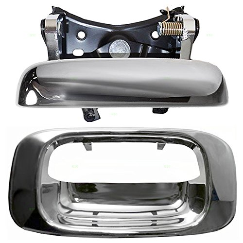 Chrome Specialty Tailgate Handle & Trim Bezels Replacement for Chevrolet GMC Pickup Truck 15997911 15228539 AutoAndArt ()
