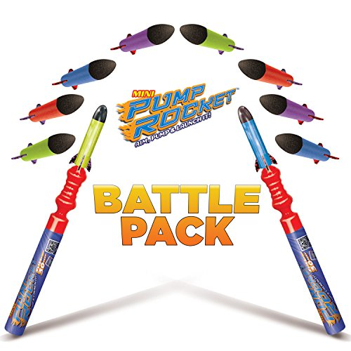 Geospace Pump Rocket - Geospace Pump Rocket Mini Battle Pack (includes 2 Launchers + 10 Rockets Total)