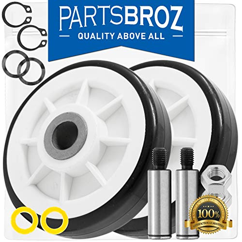 Photo 303373K Roller Wheel Drum Support Kit for Maytag & Admiral Dryers by PartsBroz - Replaces Part Numbers 12001541, AP4008534, 12001541VP, 3-3373, 303373, DE693, PS1570070, Y303373 (Pack of 2)