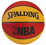 Spalding NBA Mini Basketball - Red/Orange