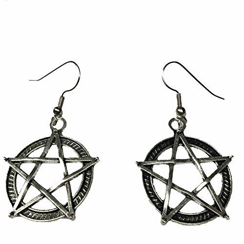Cosplay & Fan Gear Supernatural Pentagram Earrings -
