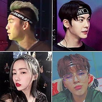 Amazon.com   Men Korean version of yoga headband male trend personality  headband hair accessories elastic running for women girl lady   Beauty 744414f3fe5
