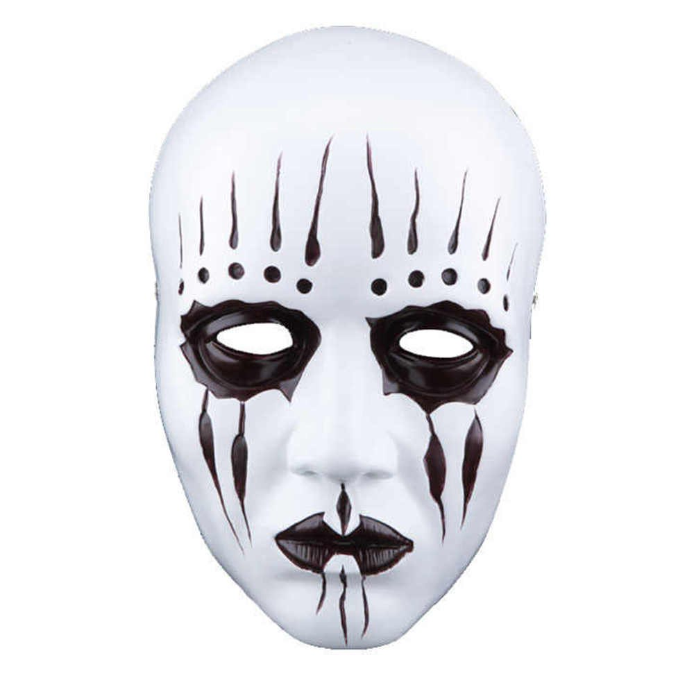 Slipknot Band Joey Jordison Resin Mask Halloween Party Masquerade Cosplay Props White