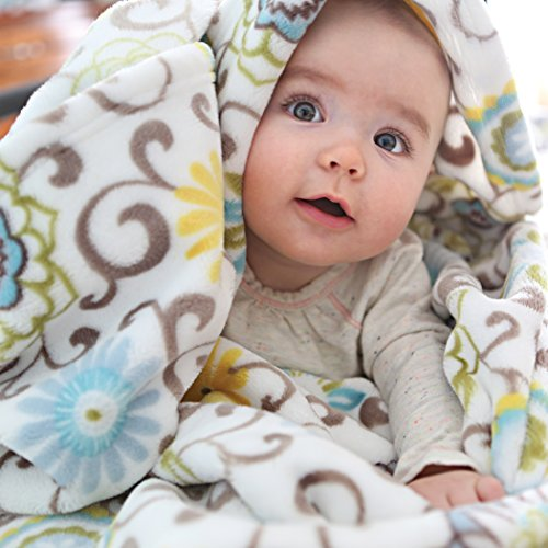 Trend Lab Plush Baby Blanket, Multi Waverly Pom Pom Spa by Trend Lab (Image #2)
