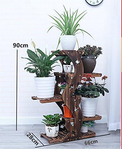 フラワースタンド ソリッドウッドフラワースタンドリビングルームバルコニープラントスタンドマルチレイヤー Flower racks (色 : A, サイズ さいず : 2)
