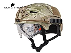 Airsoft Hunting Tactical Helmet Combat Helmet with Goggle (Multicam)