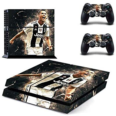 Famous football PS4 Whole Body Vinyl Skin Sticker Decal Cover for Playstation 4 System Console and Controllers by Tullia