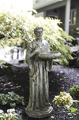 Magnesia St. Francis Of Assisi Garden Statue W/ Patina Finish Bird Feeder  Bath Country