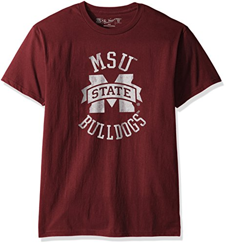Original Retro Brand NCAA Mississippi State Bulldogs Men's Victory Vintage Tee, Small, Dark -