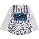 Microbe by Miss Grant Little Girls LS Tee with Bag Graphic White (5)