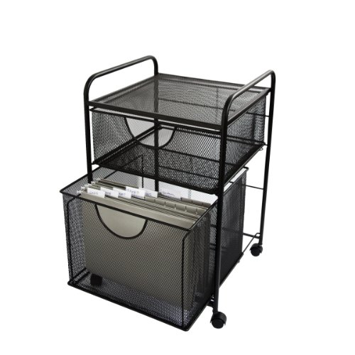 Design Ideas 2 Drawer File Cart, Black