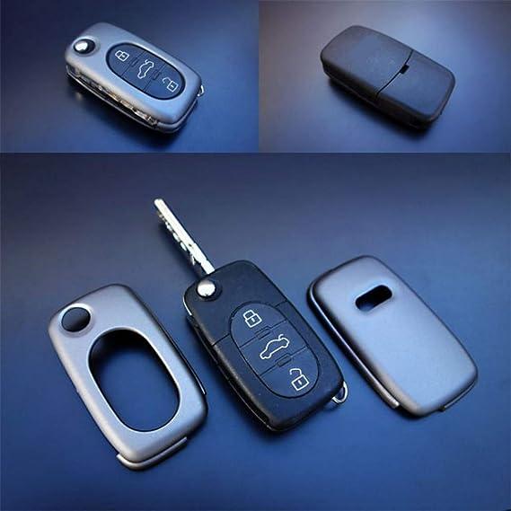 Key Cover Hülle Für Klappschlüssel Fernbedienung Ffb Grau Auto