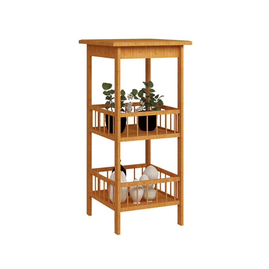 HLJ Stand di Fiore di bambù Semplice ed Elegante Giardino Creativo Balcone Flower Pot Rack personalità Multi-Funzione di Fiori al Coperto (Dimensione   S 33  33  78cm)