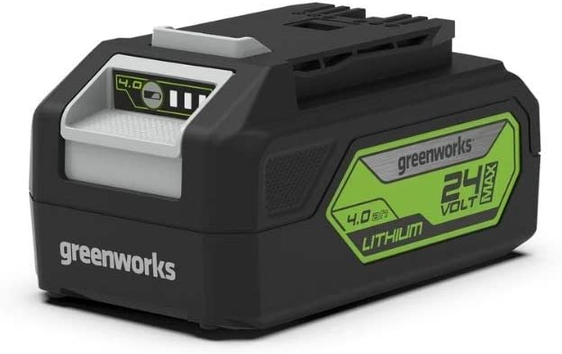 Greenworks Tools Batería G24B4 - Batería potente y recargable de Li-Ion de 24 V 4 Ah adecuada para todos los dispositivos de la serie de 24 V de Greenworks Tools