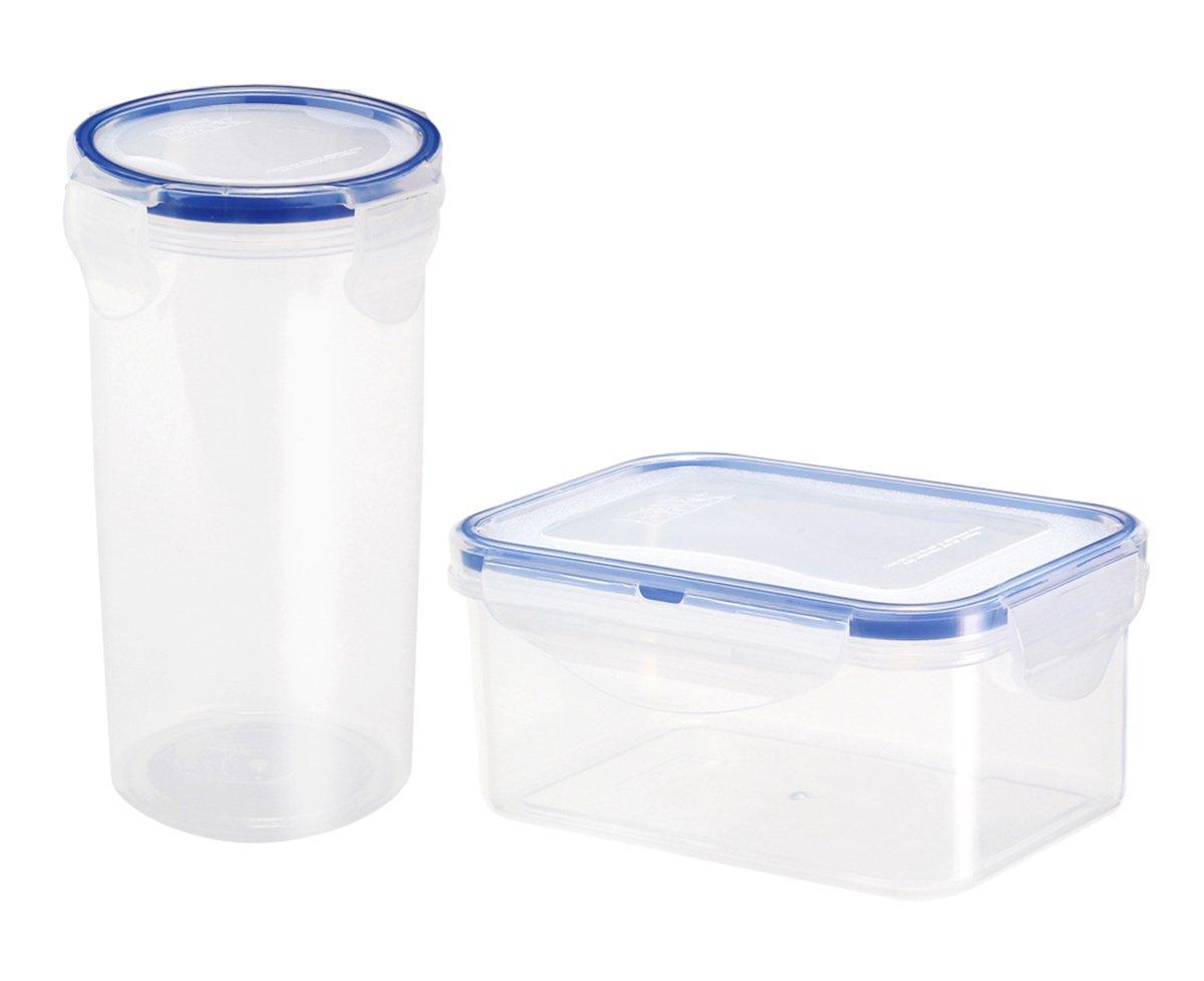 プラスチック食品ストレージコンテナwithスポーツウォーターボトル(Set of 2 )、Leakproof、BPAフリー、再利用可能なランチボックスセット、電子レンジ、食洗機と冷蔵庫セーフ B07C25WR7B