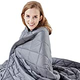 Hypnoser Weighted Blanket 15 lbs for Adults and Kids Twin Size 48x72 Inch 100% Cotton with Glass Beads