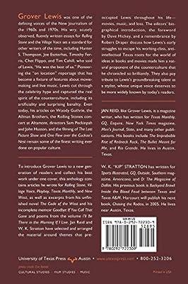 Splendor in the Short Grass: The Grover Lewis Reader
