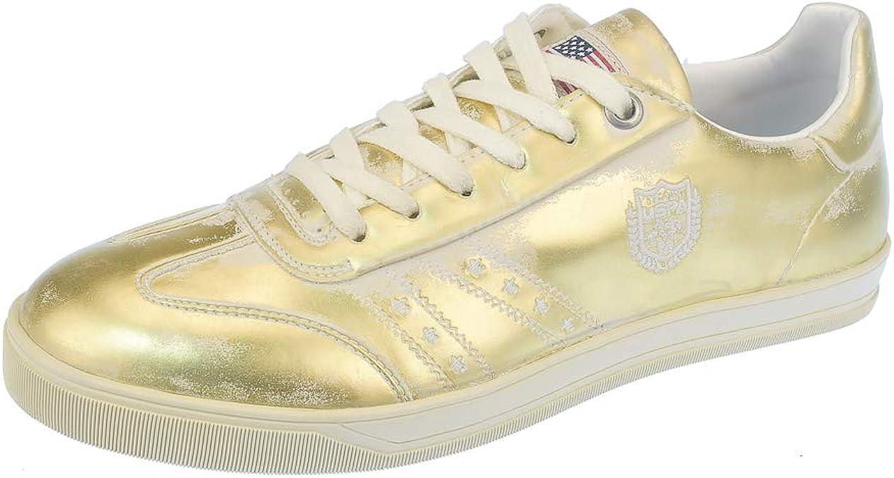 US Polo Assn. Eldew Chiara Brushed Ladies Sneaker Gold, tamaño:37 ...