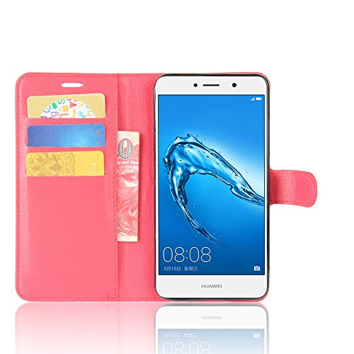 Manyip Funda Huawei Enjoy 7 plus/Huawei Y7 Prime,Caja del teléfono del cuero,Protector de Pantalla de Slim Case Estilo Billetera con Ranuras para Tarjetas, Soporte Plegable, Cierre Magnético(JFC6-7) C