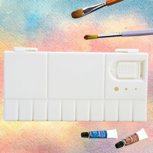 Kocome 25 Grids Large Art Paint Tray Artist Oil Watercolor Plastic Palette White by Kocome (Image #2)