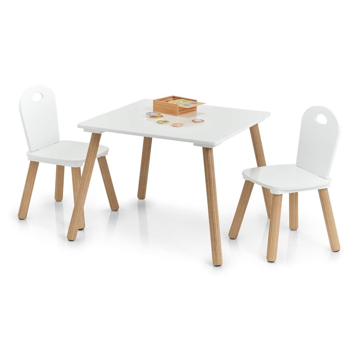 Scandi - Juego de sillas y Mesa Infantiles (3 Piezas ...