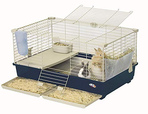 Marchioro Wheel - Marchioro Tommy 82 Deluxe Cage for Small Animals, 32.25 inches, Blue/Beige