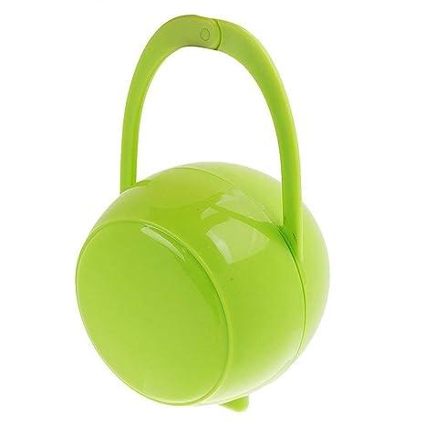 Ogquaton Chupete para beb/é Premium Chupete Titular de la caja Chupete Pez/ón Caja de viaje Caja de almacenamiento Apple Shape azul