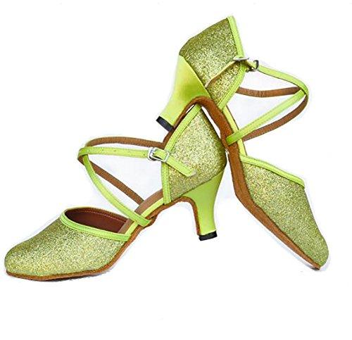 A Moderno GUOSHIJITUAN De Baotou Tacones Baile Oro Mujer De S Latino De Zapatos Baile De Zapatos Baile Zapatos Social rOrUnHq
