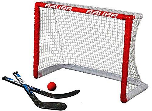 Bauer Knee Hockey Tor Set - 30.5' x 23' Bauer Knee Hockey Goal Set 30.5 x 23-Inch Red Bauer Performance Sports